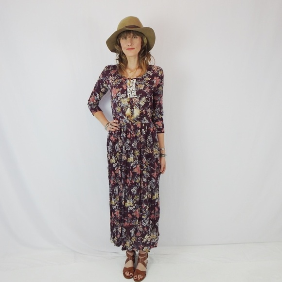 Seventies style maxi dresses